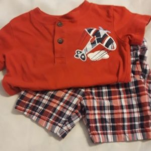 Other - Airplane plaid set